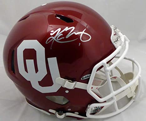 6a107edd8 Amazon.com  Kyler Murray Autographed Oklahoma Sooners Full Size Speed  Authentic Helmet Beckett BAS  Sports Collectibles