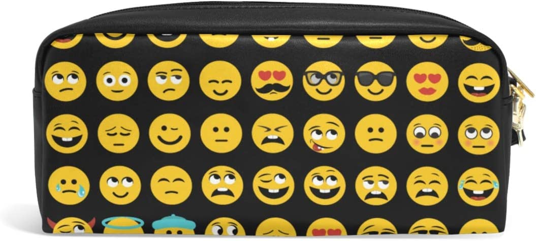 CPYang - Estuche de piel con diseño de emoji: Amazon.es: Oficina y papelería