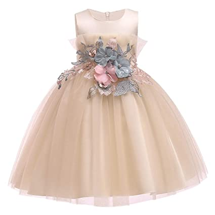 82699d6243cb Amazon.com: 2019 Lace Sequins Formal Evening Wedding Gown Tutu Princess  Dress Flower Girls Children Clothing Kids Party for Girl Clothes,Picture  Color9,9: ...
