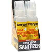 Everyone Hand Sanitizer Spray: Coconut and Lemon, Travel Size, 2 Ounce, 6 Count