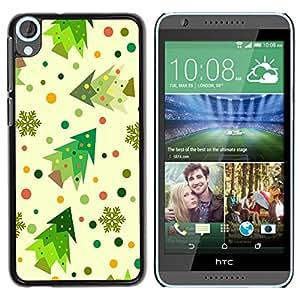 Dragon Case - FOR HTC Desire 820 - Colorful Christmas - Caja protectora de pl??stico duro de la cubierta Dise?¡Ào Slim Fit