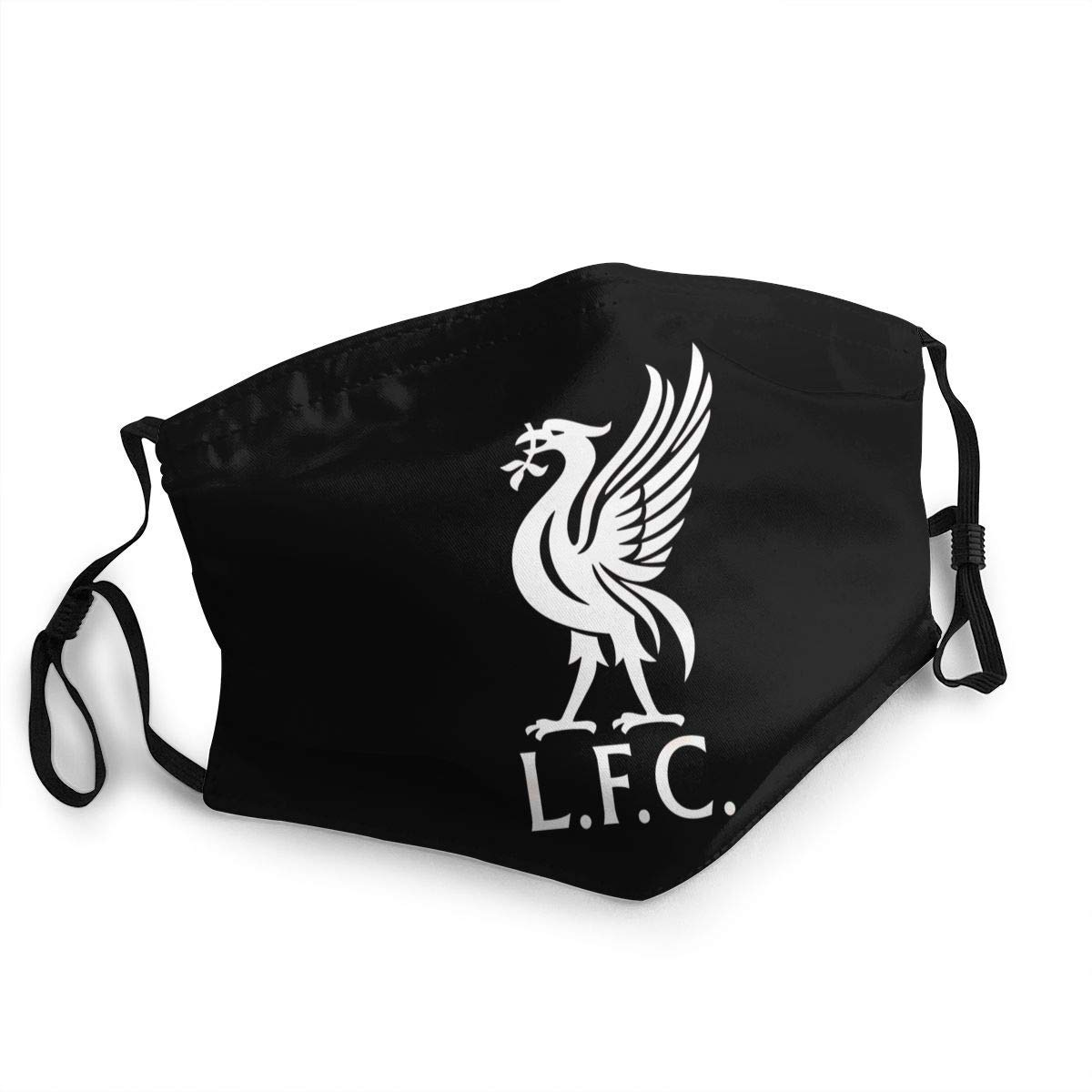 N/N Liverpool F.C. Football Club Logo Unisex Breathable Soft and Comfortable Breathable Wind and Washable Dustproof Face Black