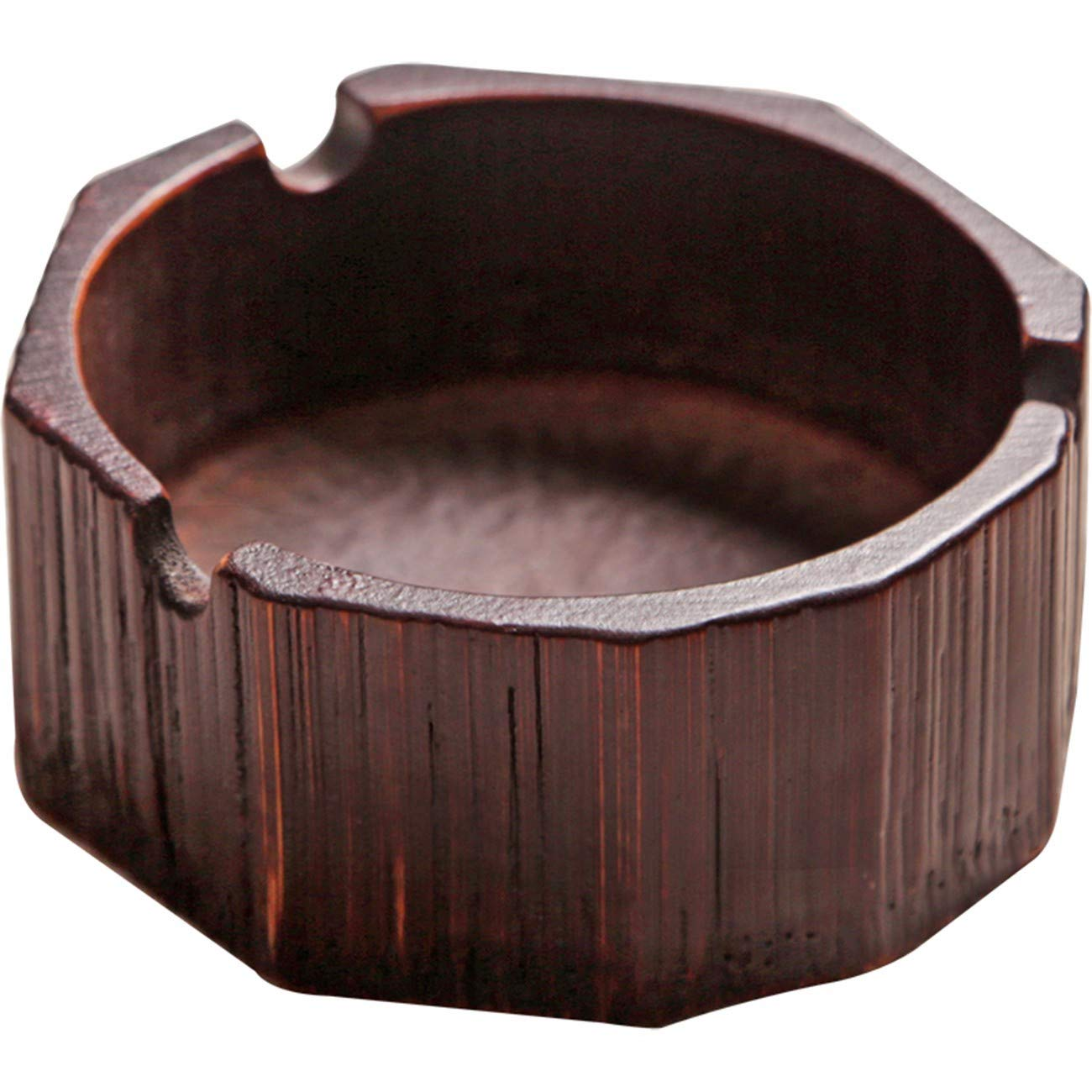 QPGGP-ashtray Bamboo Antique Ash Tray, Creative Solid Wood, Ashtray, Living Room, Multifunctional Office, Household Ornaments