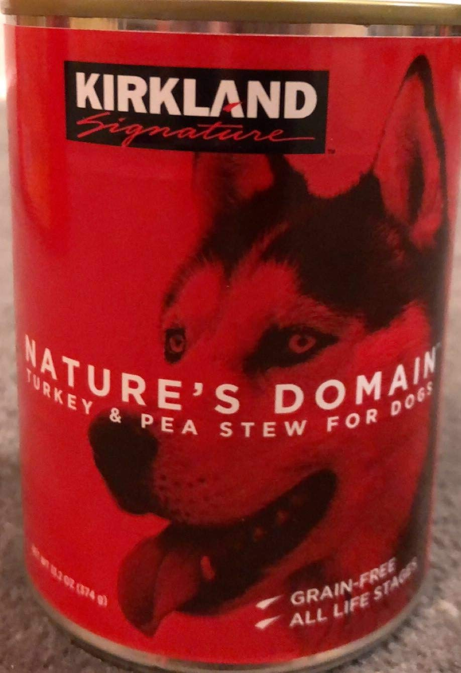 24 (13.2 Oz Each) Cans Nature's Domain Kirkland Turkey and Pea Stew Dog Food by Kirkland Signature