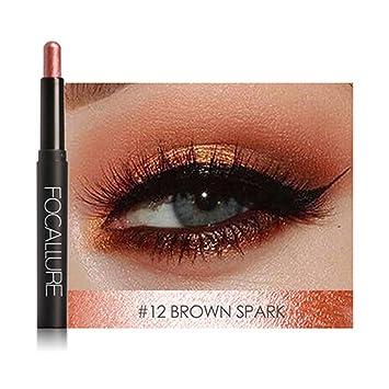 Alta Calidad 1 Unid Natural Larga Sombras De Ojos Pluma Herramientas Sombra 12 Colores Opcionales