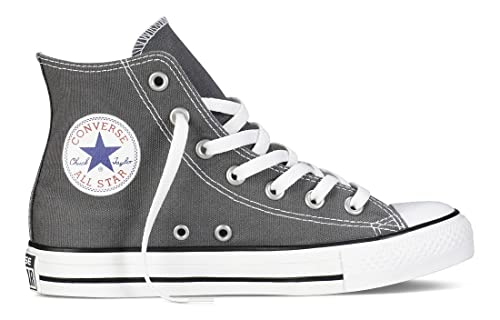 Converse All Star Hi Canvas Sneaker Unisex Adulto Grigio Charcoal 38 EU