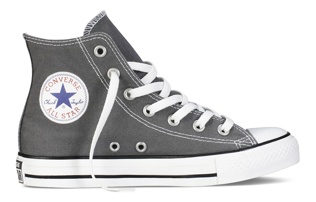 Converse Mens Chuck Taylor All Star High Top, 11 Men 13 Women, Charcoal