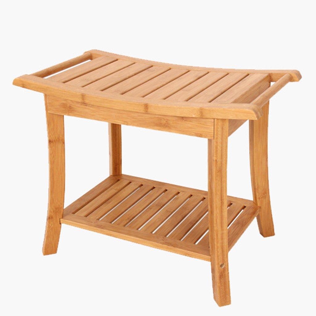 Duschhocker Holz Behinderten Handlauf Rutschfester Duschstuhl Schwangeren Badehocker Kann bis zu 250Kg widerstehen