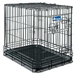 Petmate Deluxe Edition Wire Dog Kennel, Intermediate, 30-1/2 by 21 by 25-1/2-Inch
