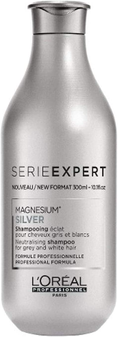 L'Oréal Professionnel - Champú experto Silver Series para cabello gris y blanco, 300 ml