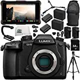 Panasonic Lumix DC-GH5 Mirrorless Micro Four Thirds Digital Camera + Atomos Ninja Inferno Recording Monitor 14PC Bundle – Includes 64GB SD Memory Card + MORE - International Version (No Warranty)
