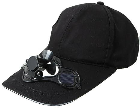 guetter fournisseur officiel prix le moins cher Y-BOA - Casquette Visière Avec Mini Ventilateur Solaire - Homme/ Femme -  Chapeau Voyage Sport/Golf/ Baseball (Noir)
