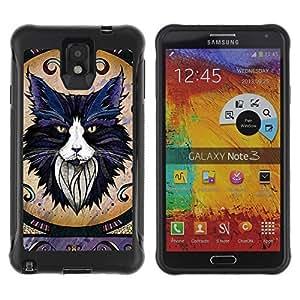 Hybrid Anti-Shock Defend Case for Samsung Galaxy Note 3 / Majestic Cat wangjiang maoyi