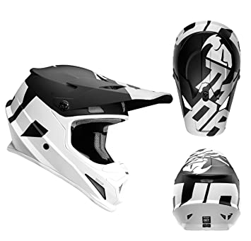 Thor Sector Level - Casco de enduro y motocross en color mate negro y blanco,