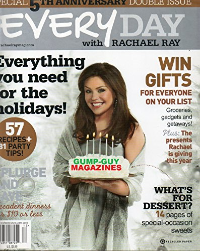 Every Day with Rachael Ray - Special 5th Anneversary Double Issue December/January 2011 (What Guys Like On Valentines Day)
