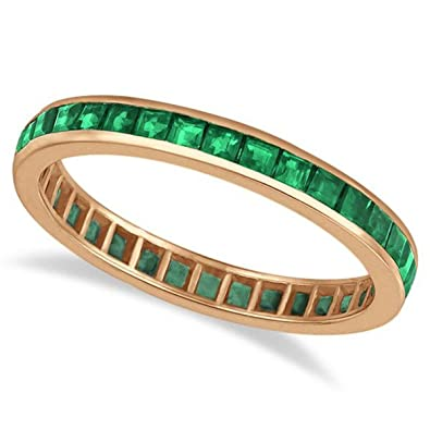 bands white grande cz plated collections band emerald thin gold green half eternity products pave
