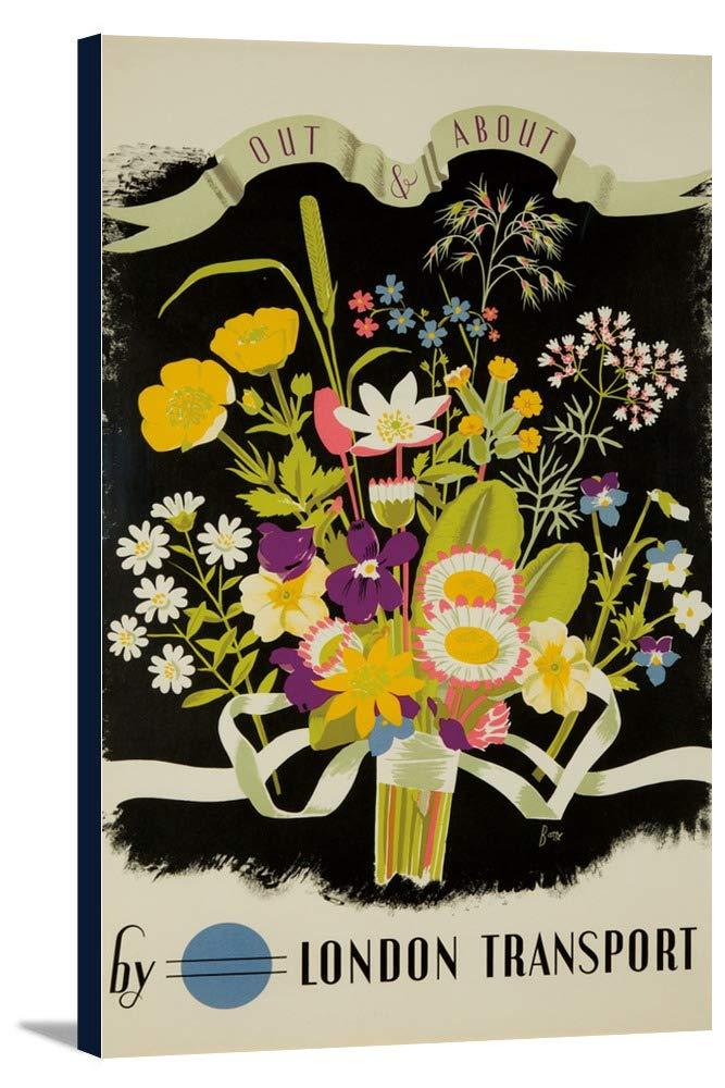 ロンドンtranspost – Out and Aboutヴィンテージポスター(アーティスト: Batty ) England c。1933 21 1/2 x 36 Gallery Canvas LANT-3P-SC-61200-24x36 B0184B4ELW  21 1/2 x 36 Gallery Canvas