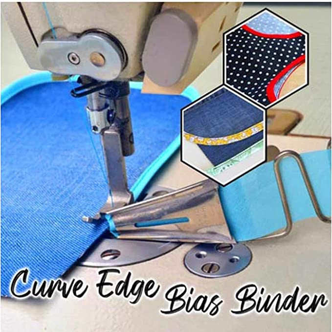 Jinjin 5 Sizes Overlock Binding of Curve Edge Folder Bias Binder Foot Sew Feet Machine Sewing Machine Spare Parts for Hemming Right-Angle Hemming 22Mm 26Mm 30Mm 36Mm 40Mm