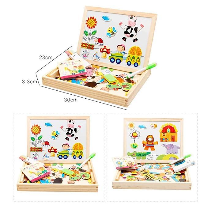 Amazon.com: YTBLF - Puzle magnético de madera para niños ...