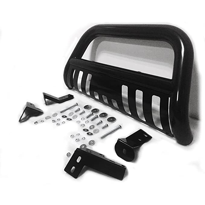 Autoforever For 05-15 Toyota Tacoma 3 S//S Steel BLK Bull Bar Brush Push Bumper Grill Grille Guard Black