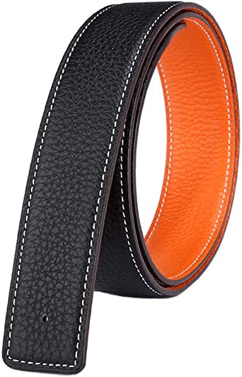 Wide Adjustable Vatees Mens Replacement Belt Strap Without Buckle Genuine Full Grain Leather 1.34 34mm
