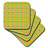 3dRose Anne Marie Baugh - Patterns - Cute and Colorful Mexican Flowers Pattern - set of 8 Ceramic Tile Coasters (cst_295468_4)