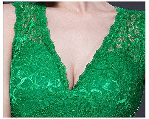 Arm V Ohne Bodycon Beauty Rückenfrei Abendkleid Spitze Emily Ausschnitt tiefem mit Nixe Violett 8wBXqw