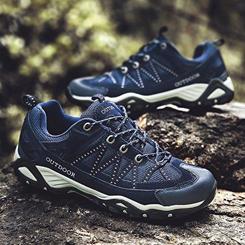 Women Trekking Grey Breathable Blue Climbing Unisex Antiskid Outdoor Shoe Shoes Men Hiking Couple qW8E7cIw6P