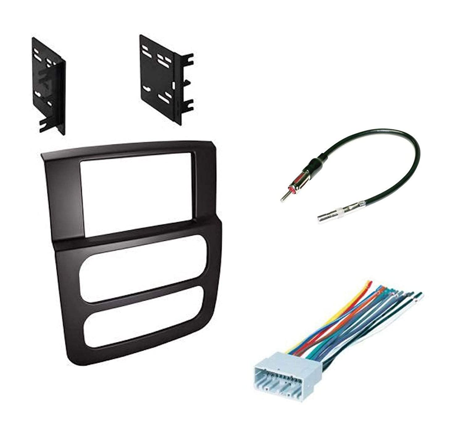 Double Din Dash Kit w/Harness and Antenna for 2002-2005 Dodge Ram Pickup 1500