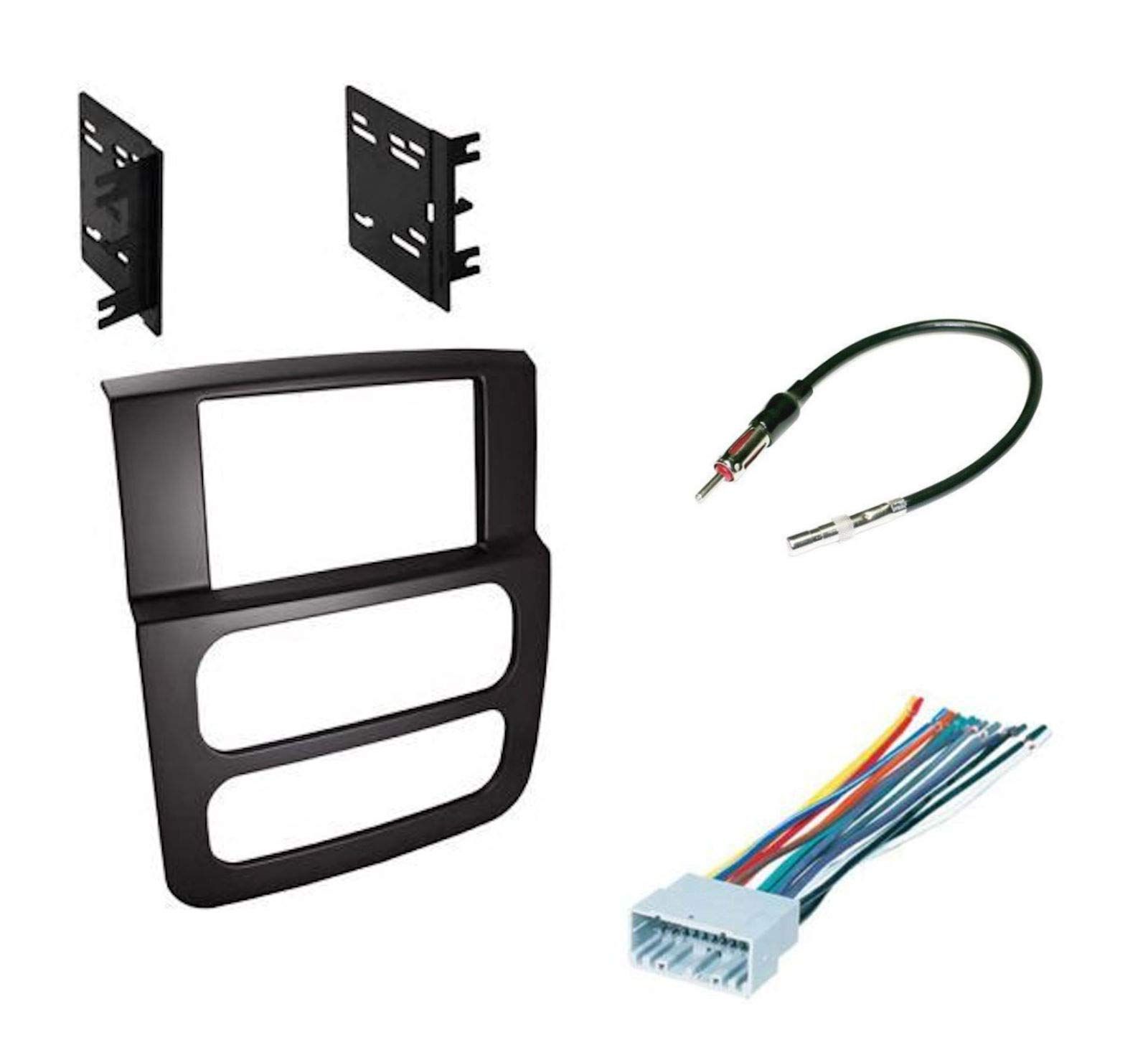 Double Din Dash Kit w/Harness and Antenna for 2002-2005 Dodge Ram Pickup 1500 by IMC Audio