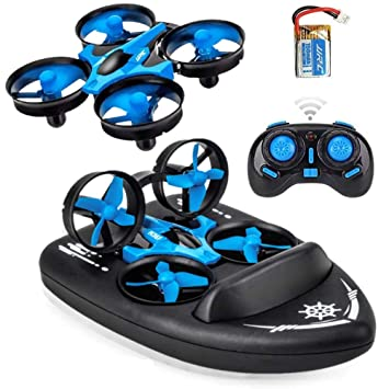 SeeKool MINI 3 en 1 RC Drone Quadcopter, 2.4GHZ Modo sin Cabeza y ...