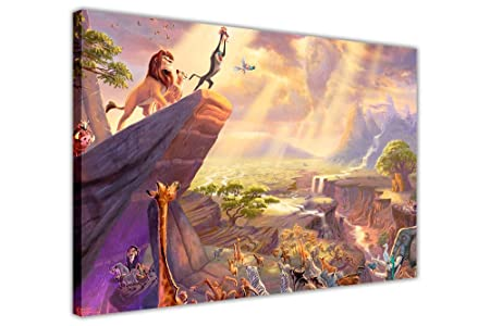 DISNEY LION KING SIMBA KIDS CANVAS WALL ART PICTURES PHOTOS ROOM ...