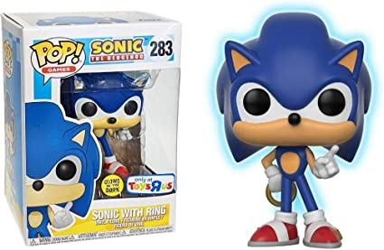 Amazon Com Funko Pop Sonic The Hedgehog With Ring Glow In The Dark Toys Games
