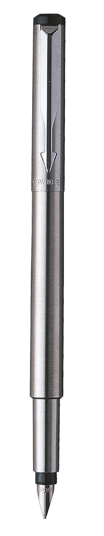 Parker - Pluma estilográfica y caja (acero inoxidable, punta fina): Amazon. es: Oficina y papelería