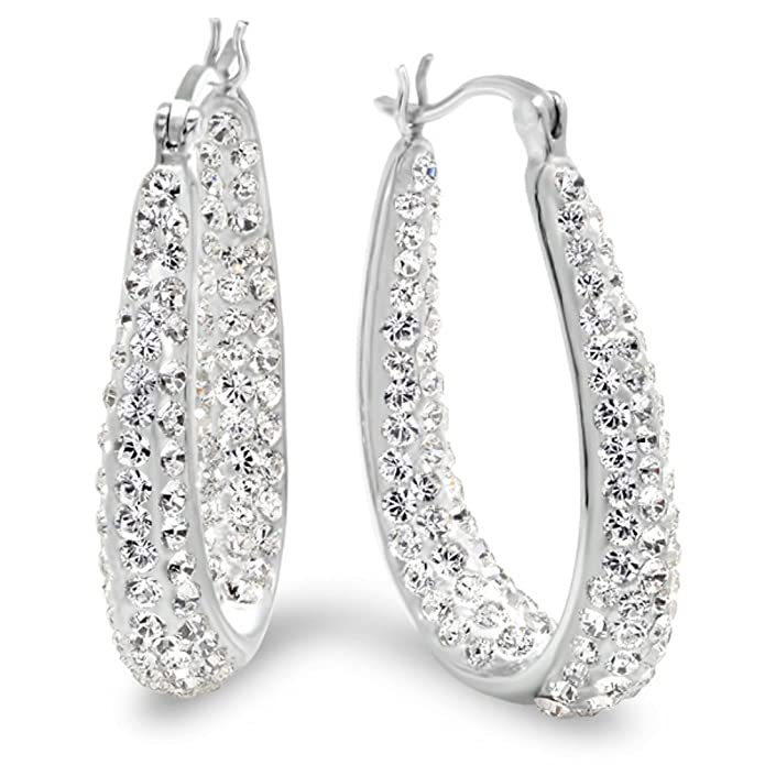 sterling sliver silver diamonflash cubic earrings sadie zirconia the jewellery huggie