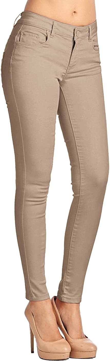 2LUV Womens Leather Coated Skinnies