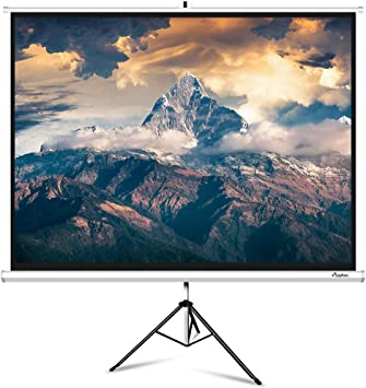 Portable 100 Inch 4 ELEPHAS M100-S Projector Screen with Stand 3 Indoor /& Pull