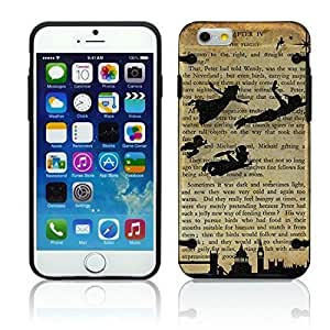 Case Cover For SamSung Galaxy S4 Peter Pan Neverland Vintage Chic Fashion Bumper Case Skin Cover Teen Matte Black Clear Transparent Hard Sides Girly Cell Phone Accessories