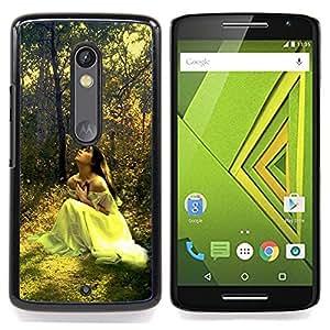 Jordan Colourful Shop - Design Forrest Bride For Motorola Verizon DROID MAXX 2 / Moto X Play - < Personalizado negro cubierta de la caja de pl??stico > -