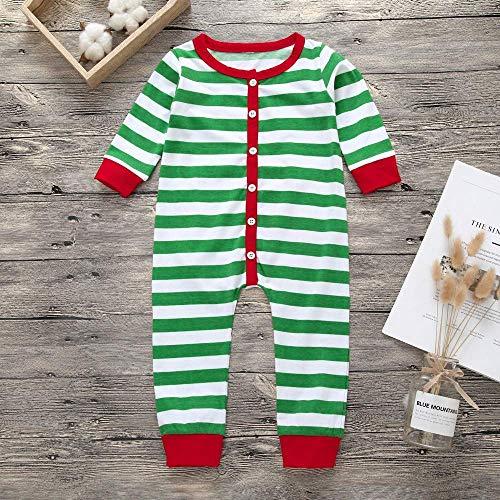 Mode col garçons Newborn Patchwork Clothing courtes bébés manches barboteuse Casual Boutonnage Combinaison pour Basic Green rond vêtements rayé imprimée Zhrui Noël Top t7awBxBqp