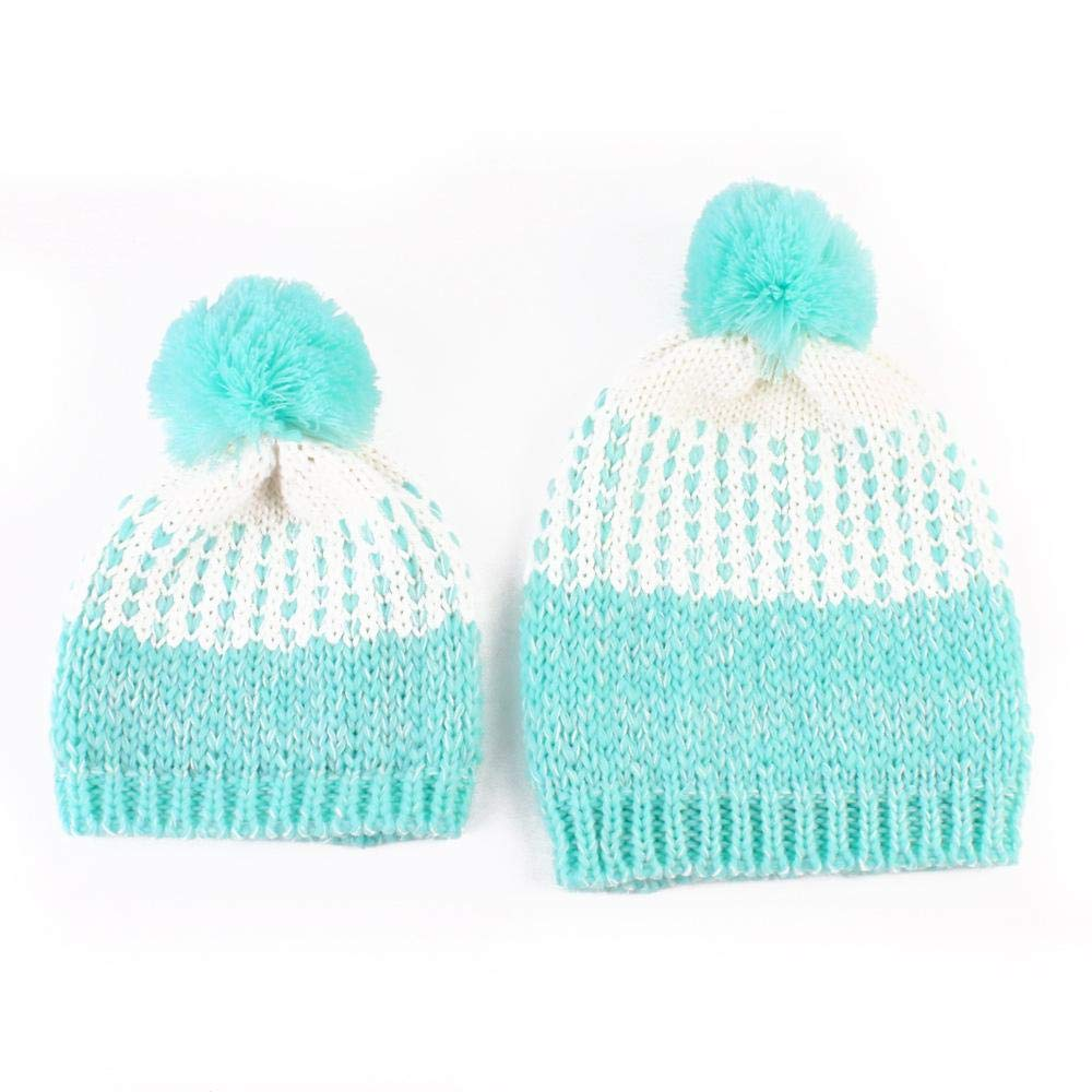 Myzixuan Europe and The United States Mother Baby Winter Baby hat Europe and America Warm Mother Baby hat