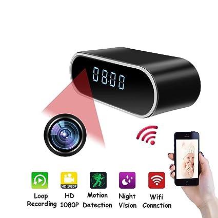 Amazon com: YMXLJJ WiFi Desk Clock Mini Camera 1080P HD IP