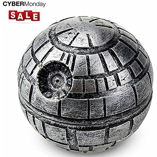 615kRtM5GiL Nordic Death Star Grinder for herbs spices and tobacco with BONUS Christmas Gift BOX & Gift Wrap 2.05' Inches 3 Pieces - Herb Kief / Keef Catcher -100% Guarantee- Star Wars gifts Weed tool