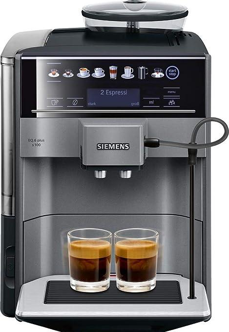 Siemens EQ.6 plus TE651509DE - Cafetera (Independiente, Máquina espresso, 1,7 L, Granos de café, 1500 W, Negro): Amazon.es: Hogar