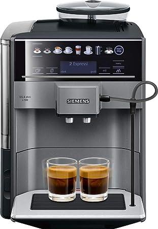 Siemens EQ.6 plus TE651509DE Independiente Totalmente automática Máquina espresso 1.7L Negro - Cafetera
