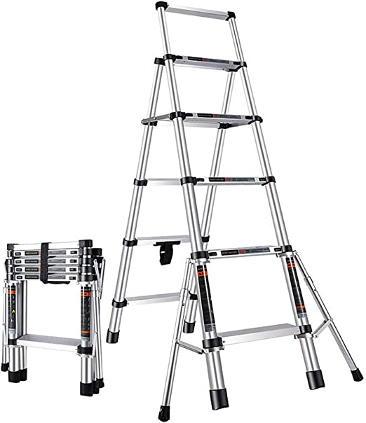 Taburete Escalera de Paso Escalera telescópica Hogar Aleación de ...