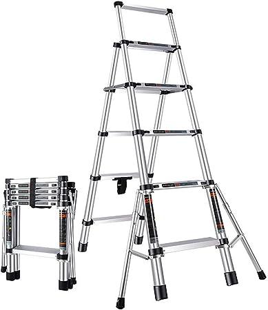 Taburete Escalera de Paso Escalera telescópica Hogar Aleación de Aluminio Escalera Plegable de 5 Pasos Escalera Multifuncional de elevación: Amazon.es: Hogar