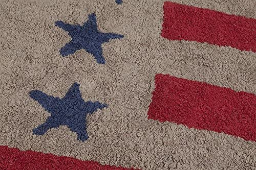 Lorena Canals USA Flag Linen – Red Washable Rugs
