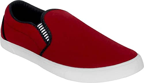 4f3cb61e718f Axter Shoefly Men Red-1058 Loafers   Moccasins  Amazon.in  Shoes ...