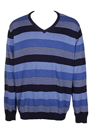 bf84294df2c5 Club Room Mens Striped Knit Sweater at Amazon Men's Clothing store: